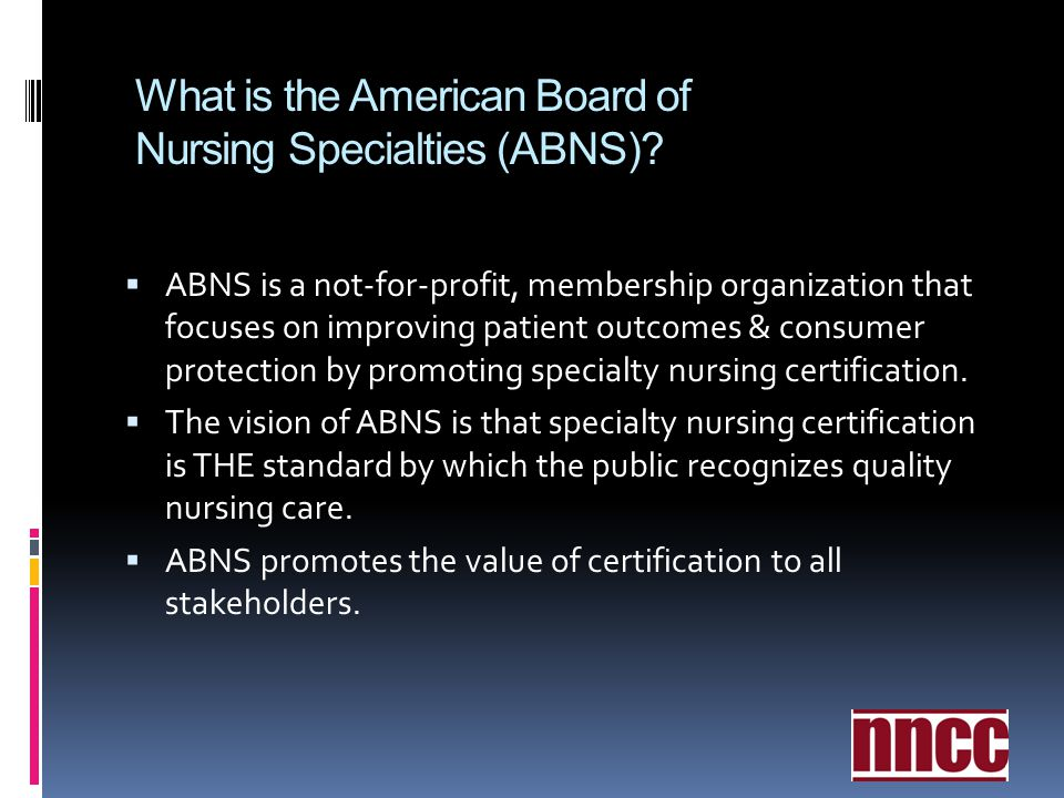 What is the American Board of Nursing Specialties (ABNS)