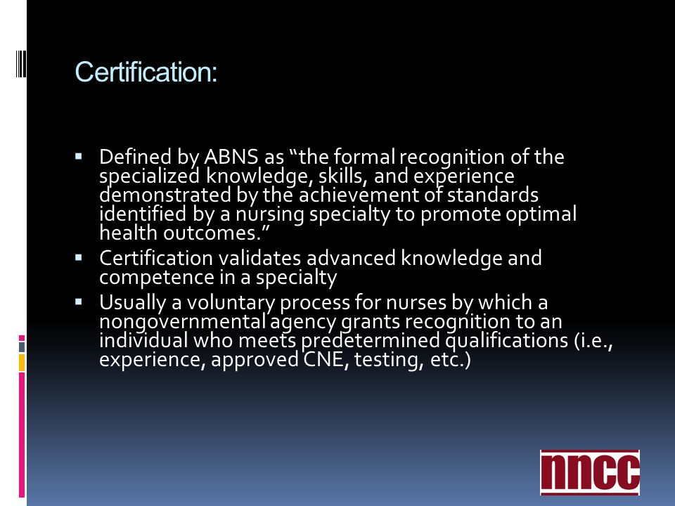 Certification: