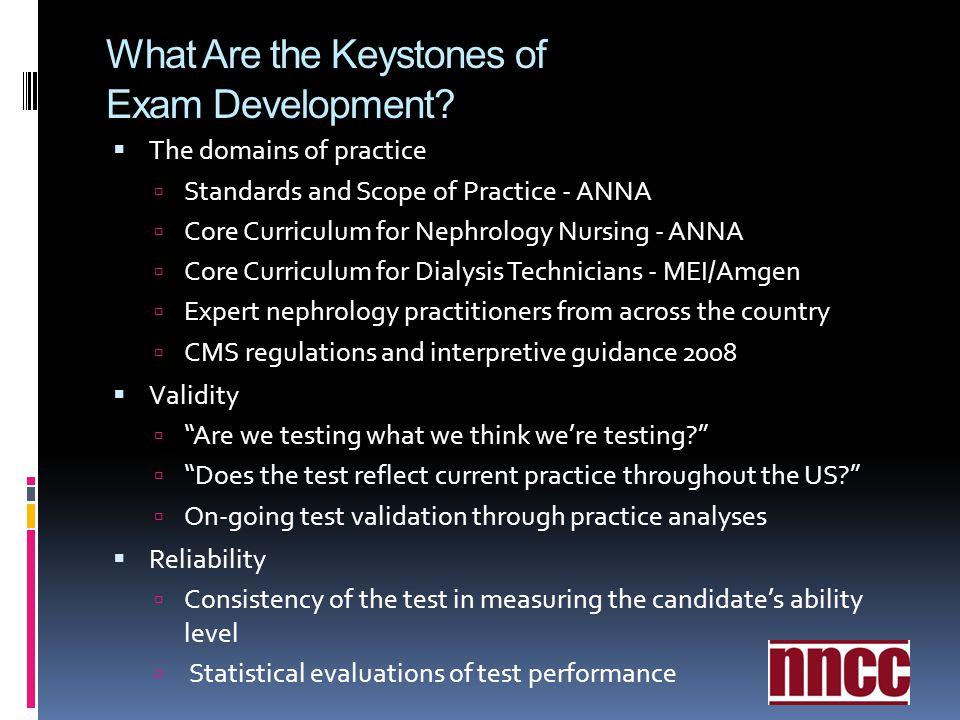 What Are the Keystones of Exam Development