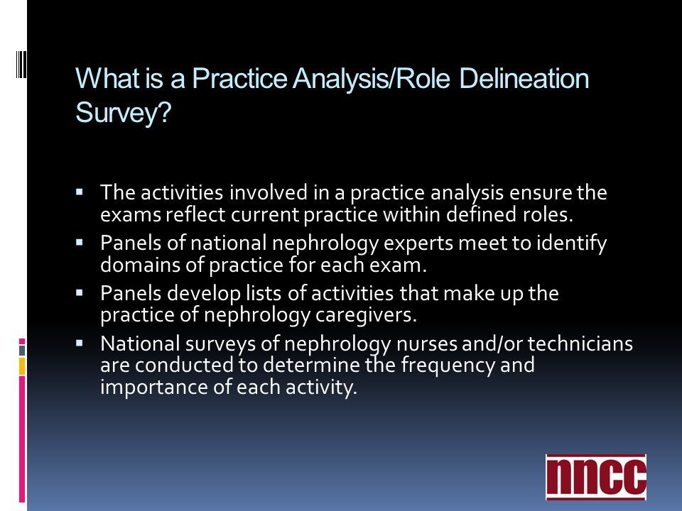 What is a Practice Analysis/Role Delineation Survey