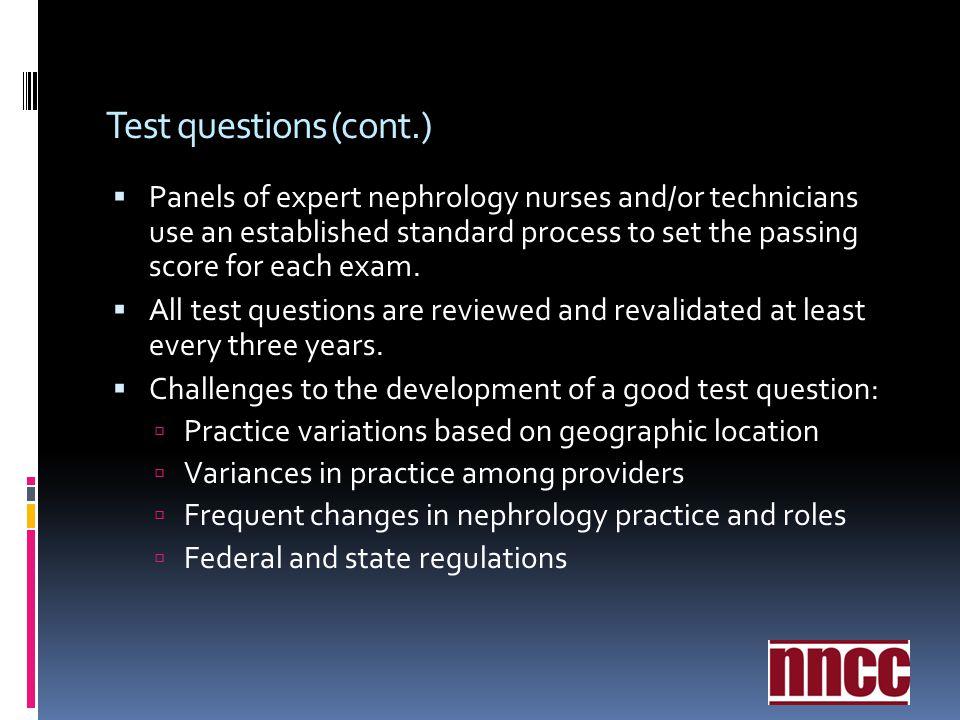Test questions (cont.)