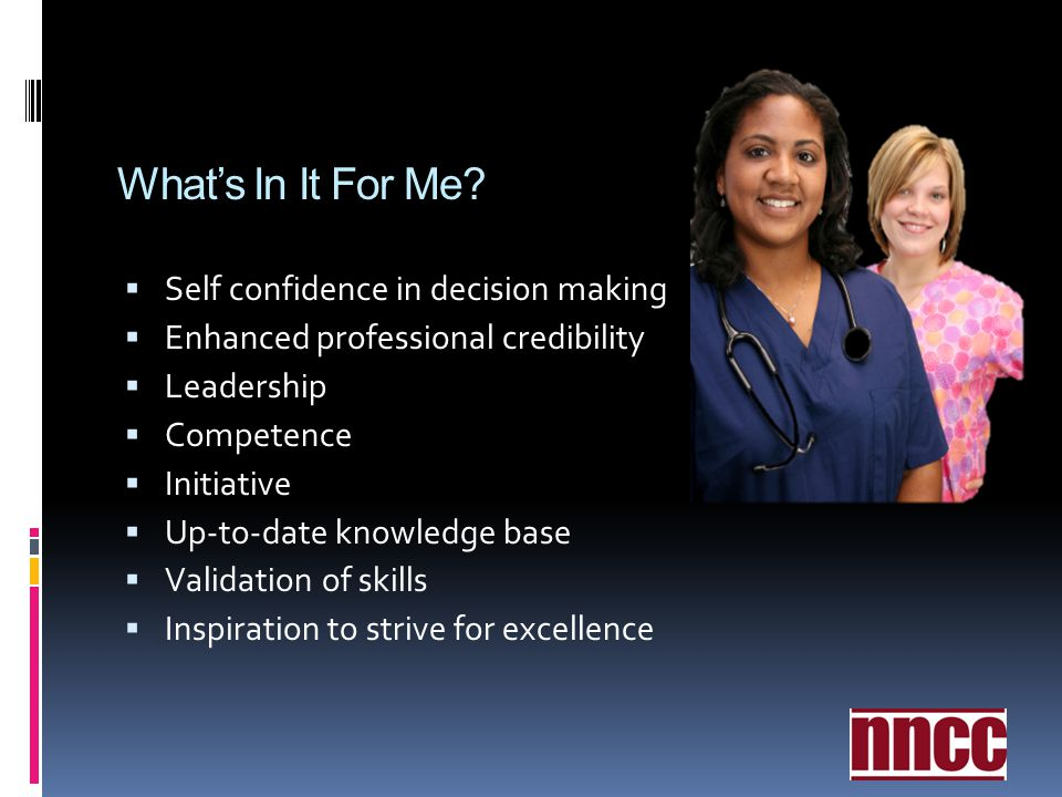 What's In It For Me Self confidence in decision making