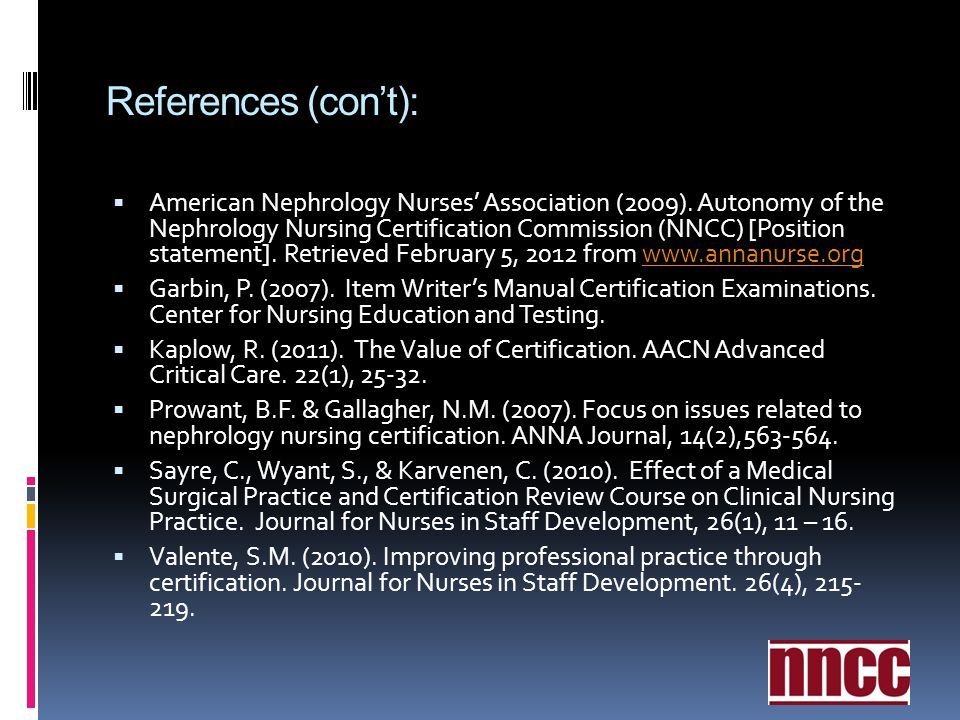 References (con't):