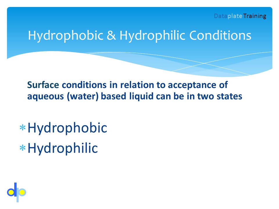 Hydrophobic & Hydrophilic Conditions