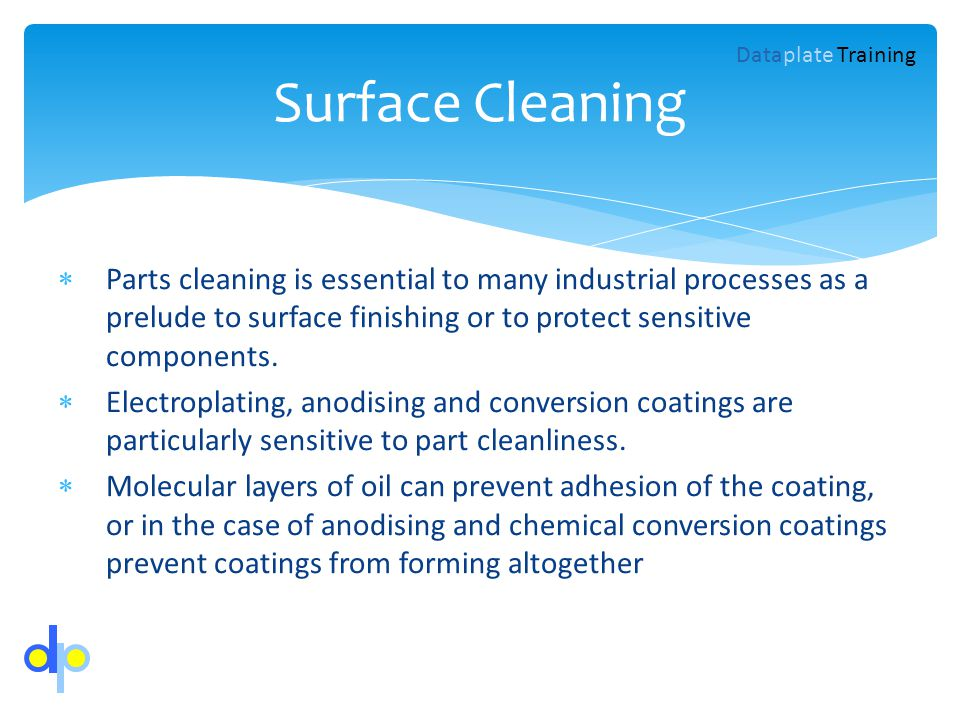 Surface Cleaning Dataplate Training.