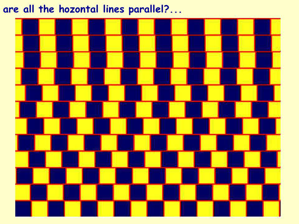 are all the hozontal lines parallel ...