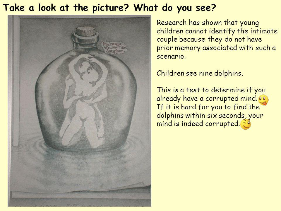 Take a look at the picture What do you see