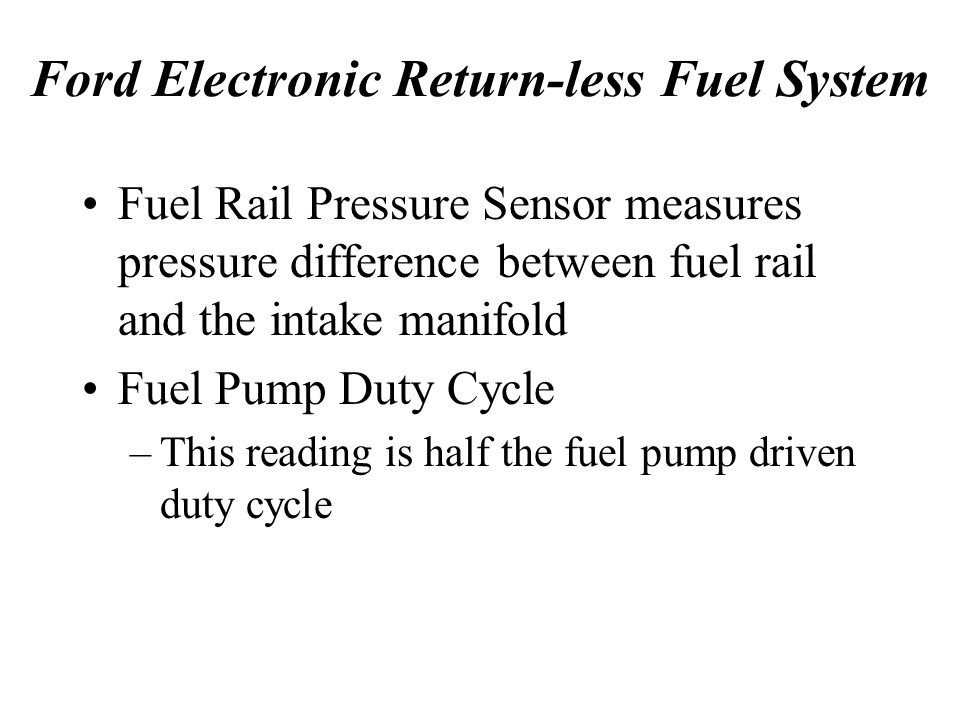 Ford Electronic Return-less Fuel System