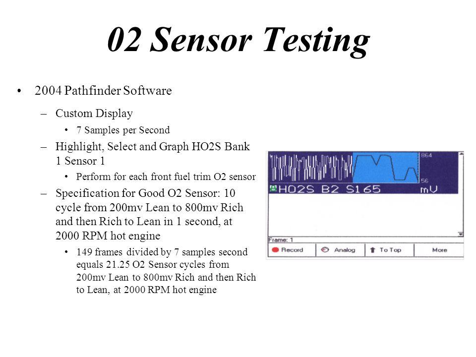 02 Sensor Testing 2004 Pathfinder Software Custom Display