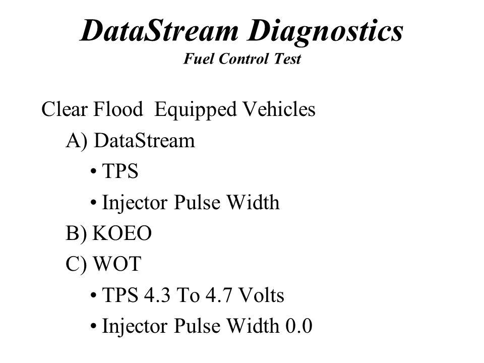DataStream Diagnostics Fuel Control Test