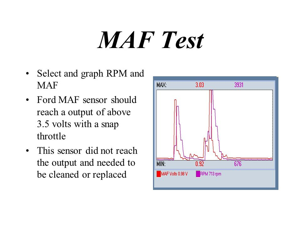 MAF Test Select and graph RPM and MAF