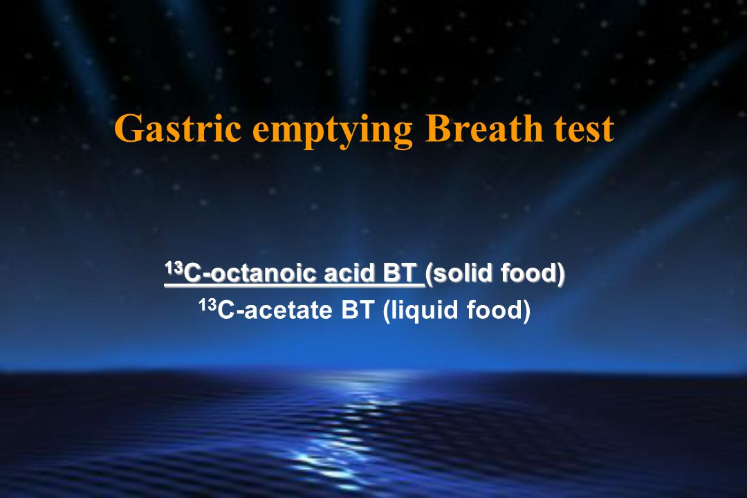 Gastric emptying Breath test