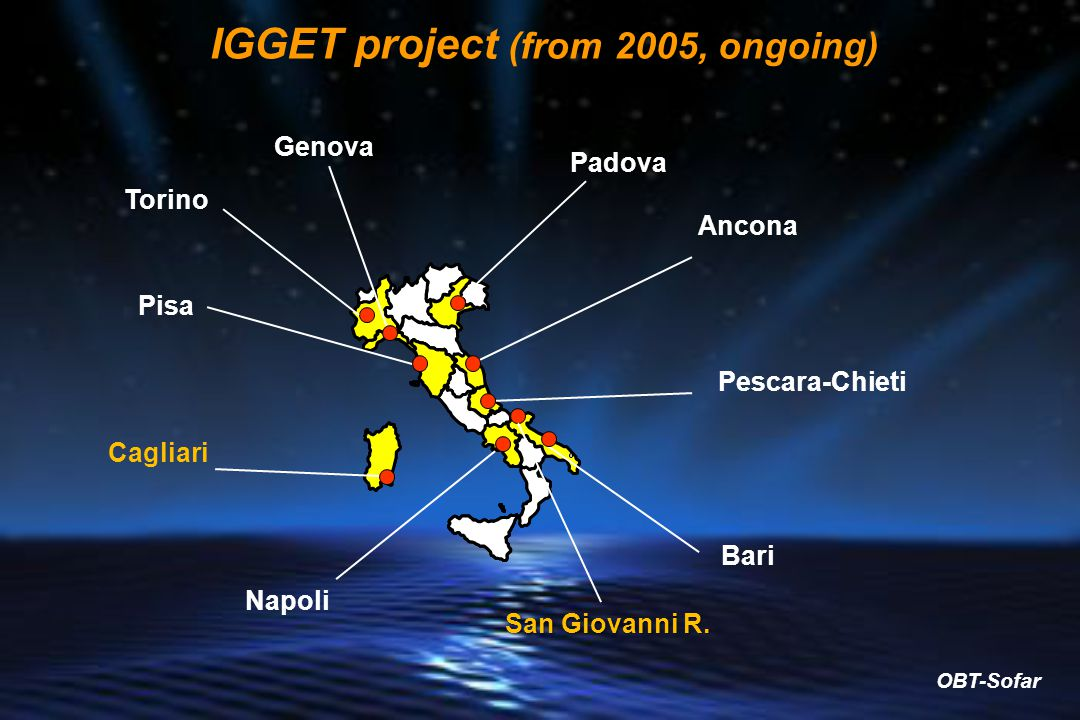 IGGET project (from 2005, ongoing)