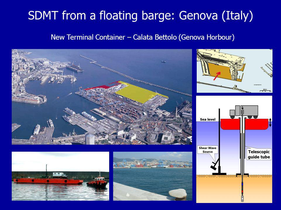 SDMT from a floating barge: Genova (Italy)