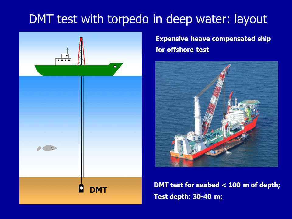 DMT test with torpedo in deep water: layout