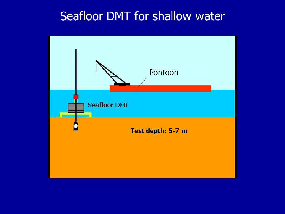 Seafloor DMT for shallow water