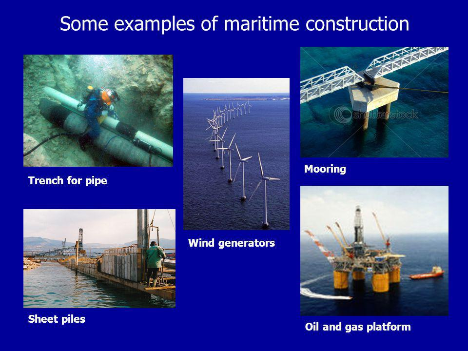 Some examples of maritime construction