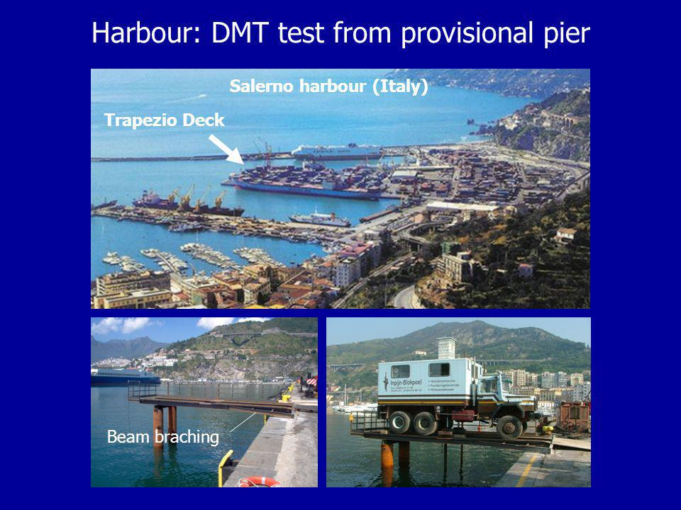 Harbour: DMT test from provisional pier