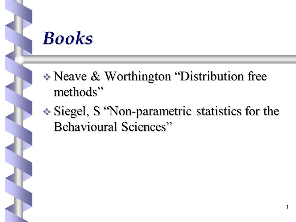 Books Neave & Worthington Distribution free methods