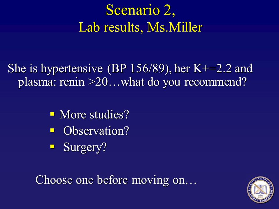 Scenario 2, Lab results, Ms.Miller