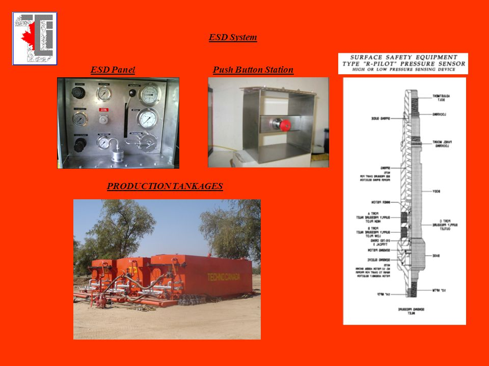 ESD System ESD Panel Push Button Station PRODUCTION TANKAGES