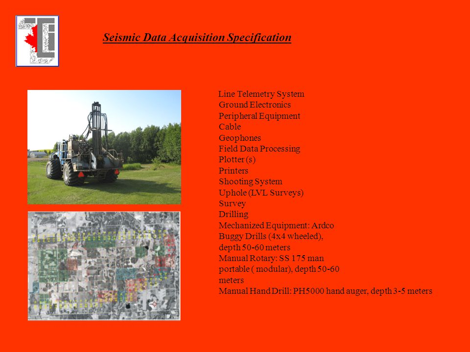 Seismic Data Acquisition Specification