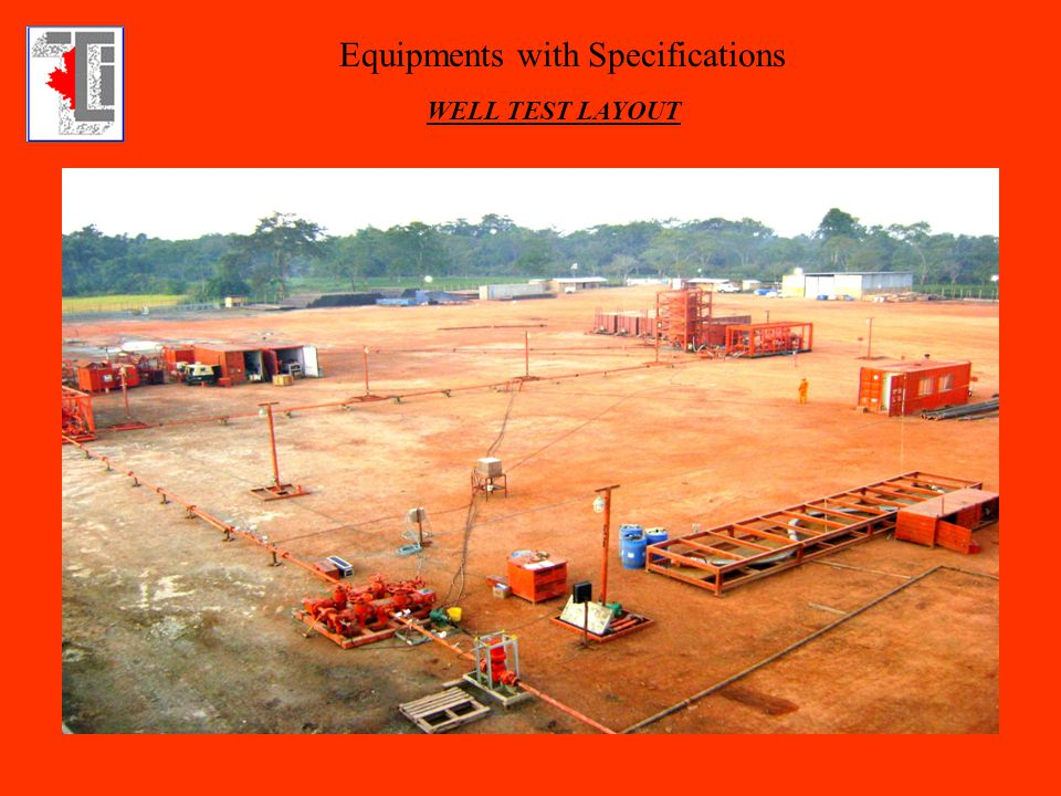 Equipments with Specifications