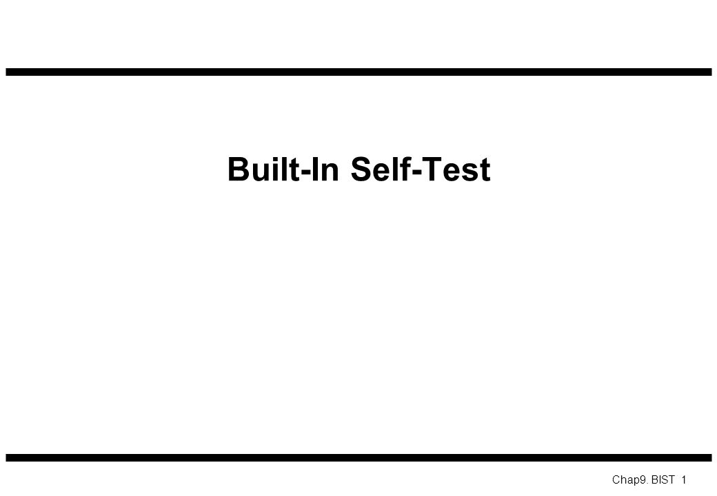 Built-In Self-Test