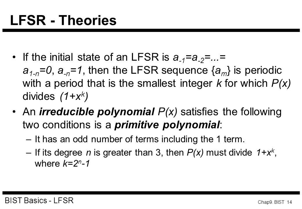 LFSR - Theories