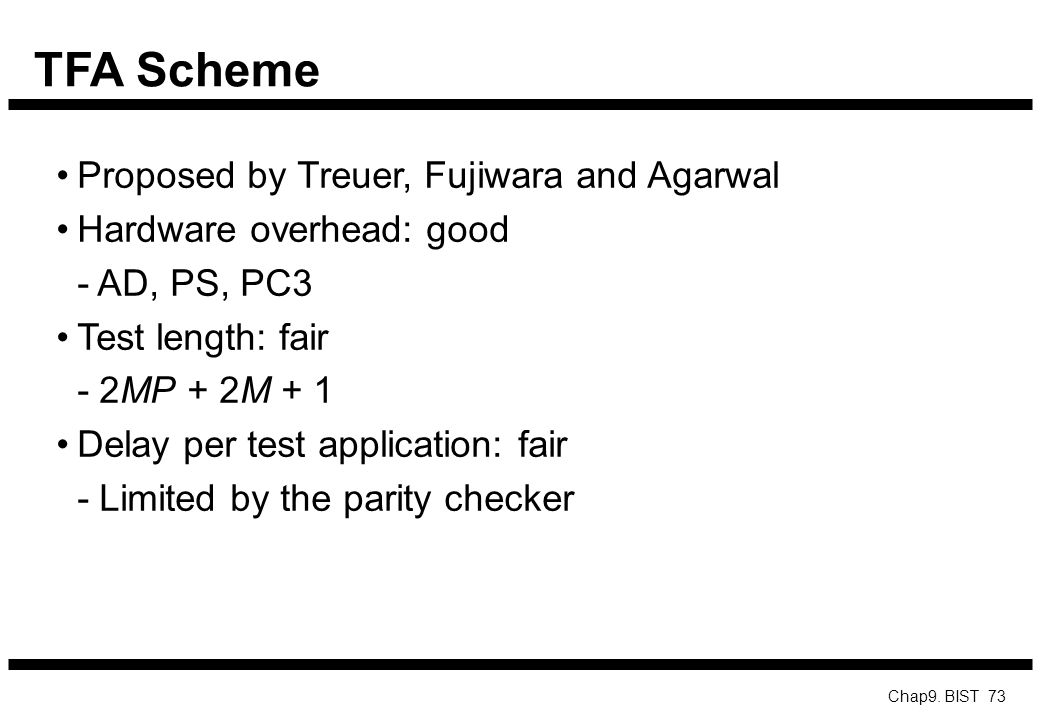 TFA Scheme Proposed by Treuer, Fujiwara and Agarwal