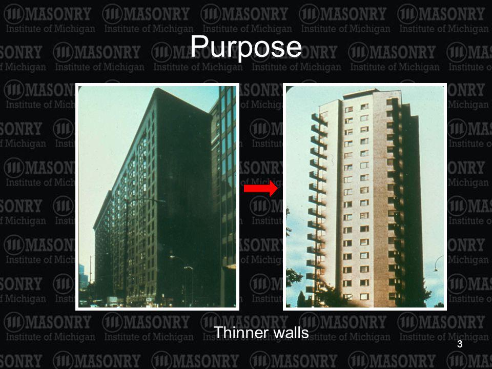 Purpose Thinner walls