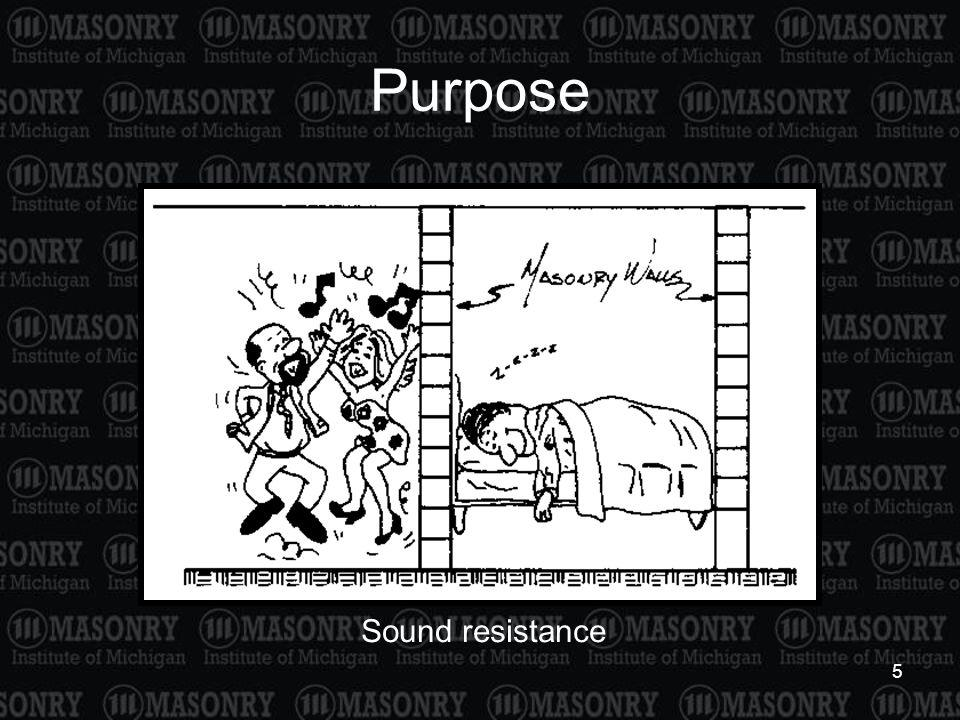 Purpose Sound resistance