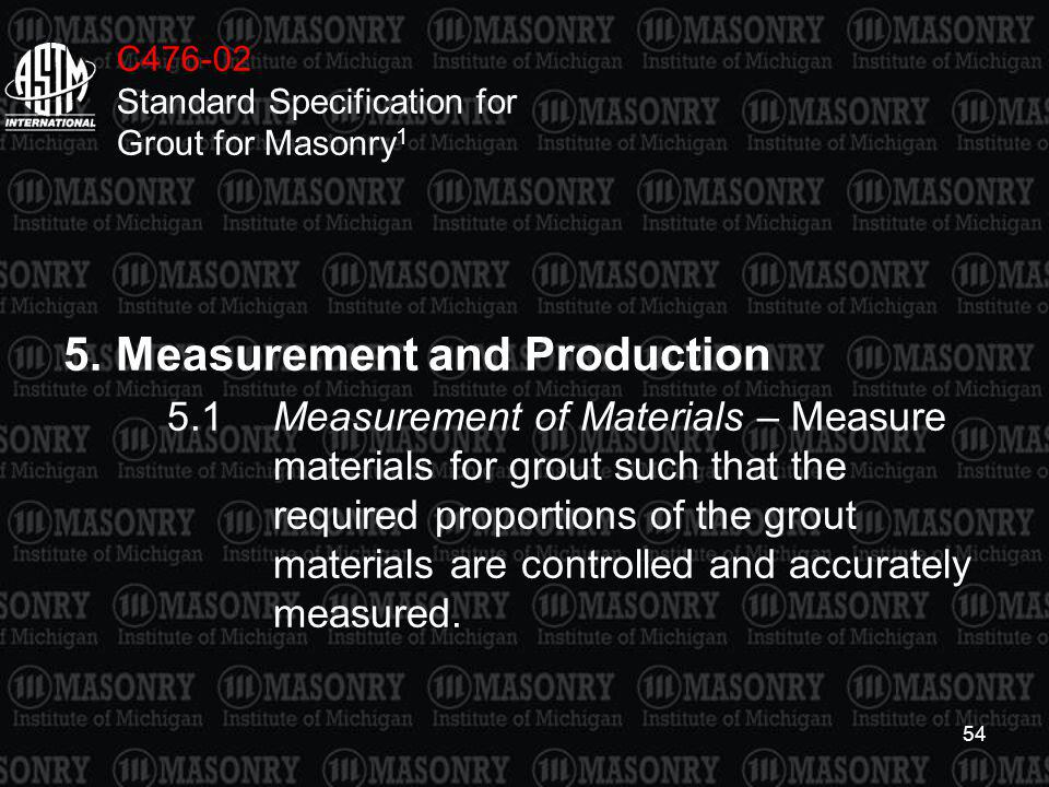 5. Measurement and Production