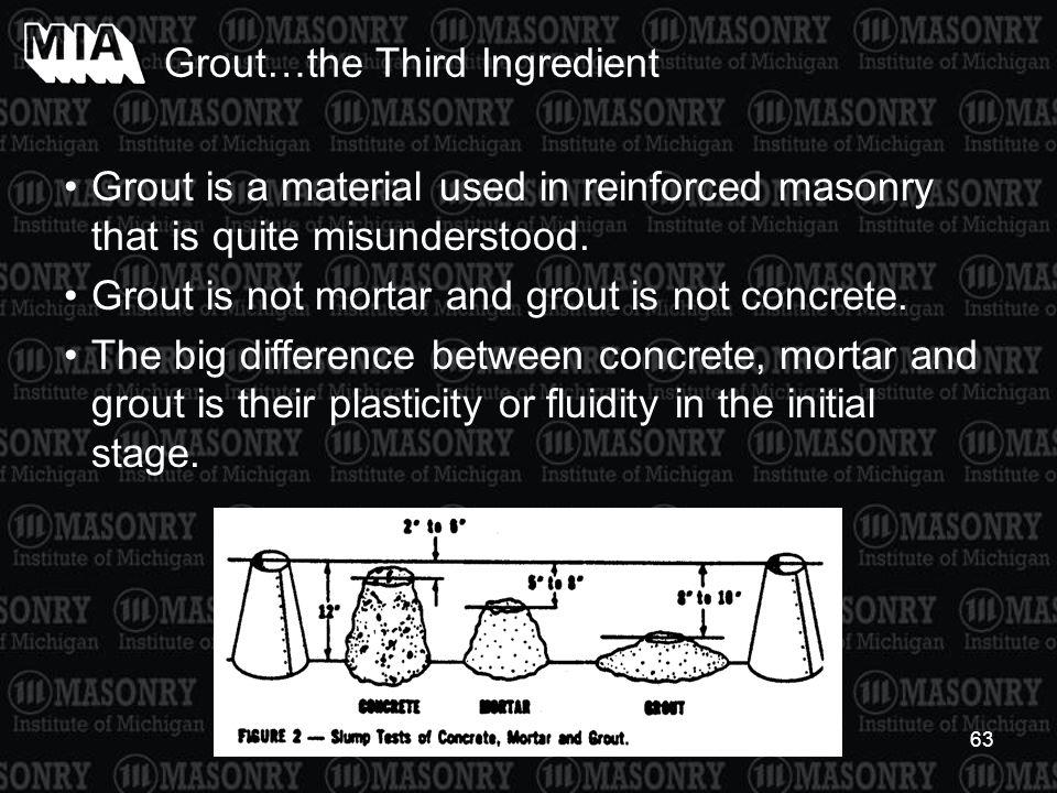 Grout…the Third Ingredient