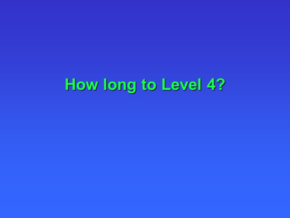 How long to Level 4