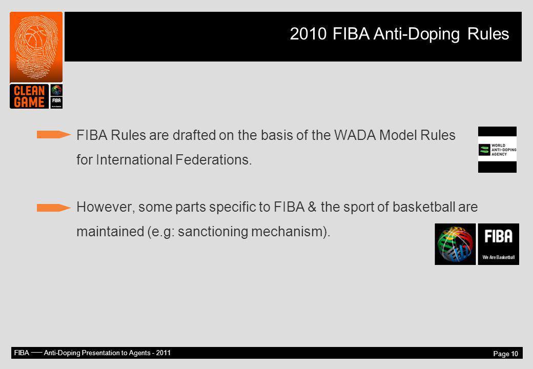 2010 FIBA Anti-Doping Rules