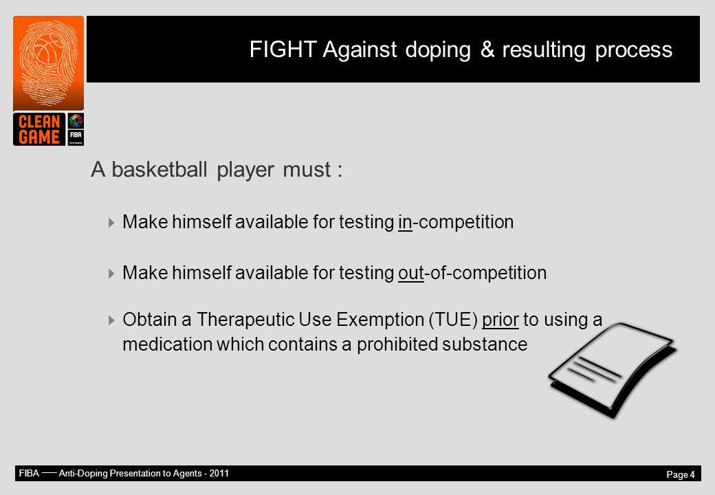 FIGHT Against doping & resulting process