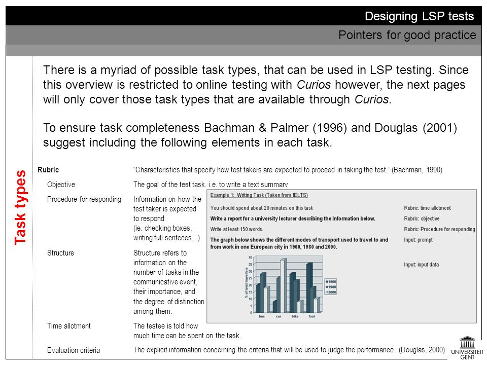 Task types Designing LSP tests Pointers for good practice