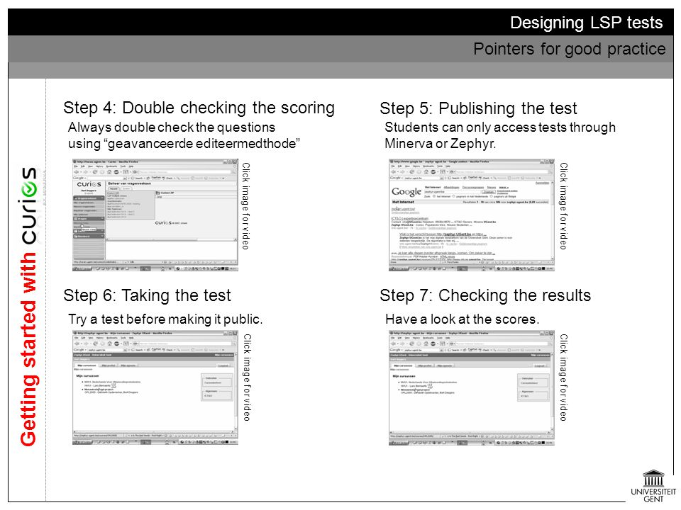 Getting started with Designing LSP tests Pointers for good practice