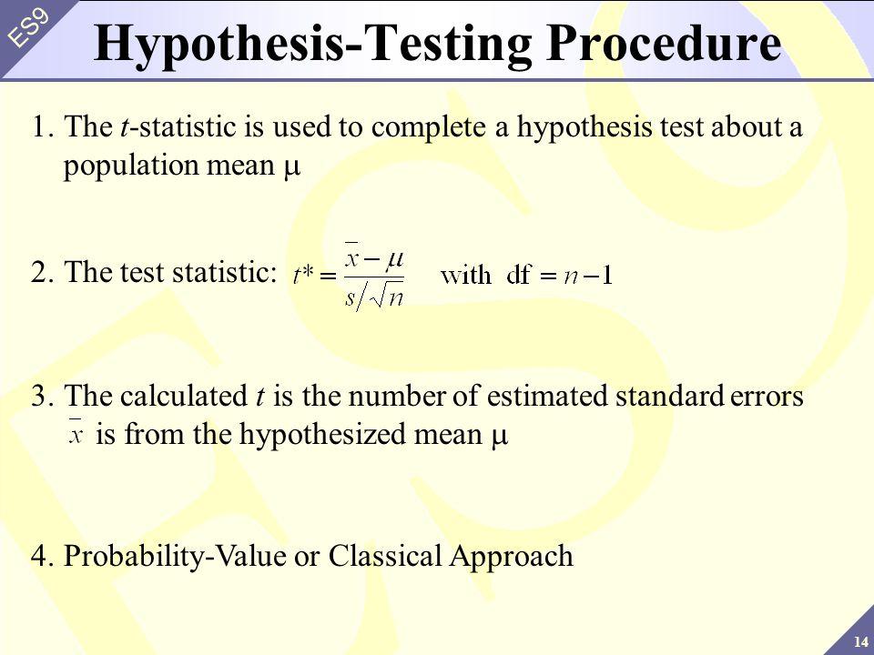 Hypothesis-Testing Procedure