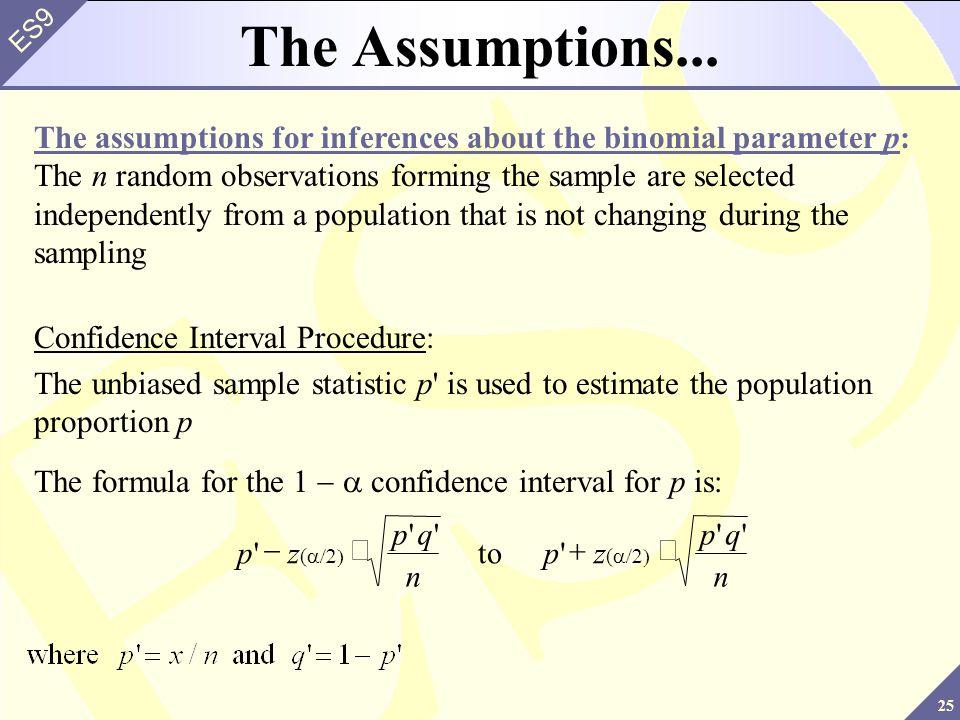 The Assumptions...