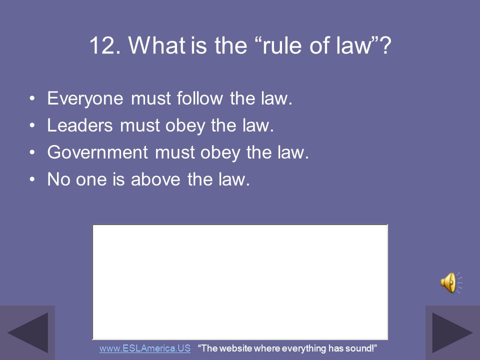 12. What is the rule of law