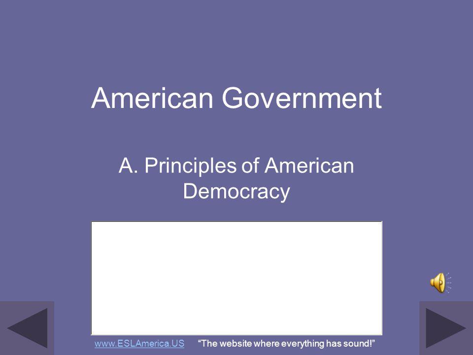 A. Principles of American Democracy