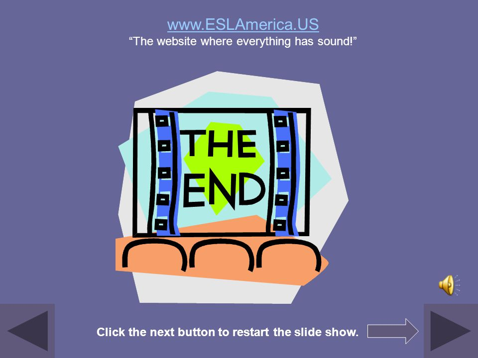 www.ESLAmerica.US The website where everything has sound!