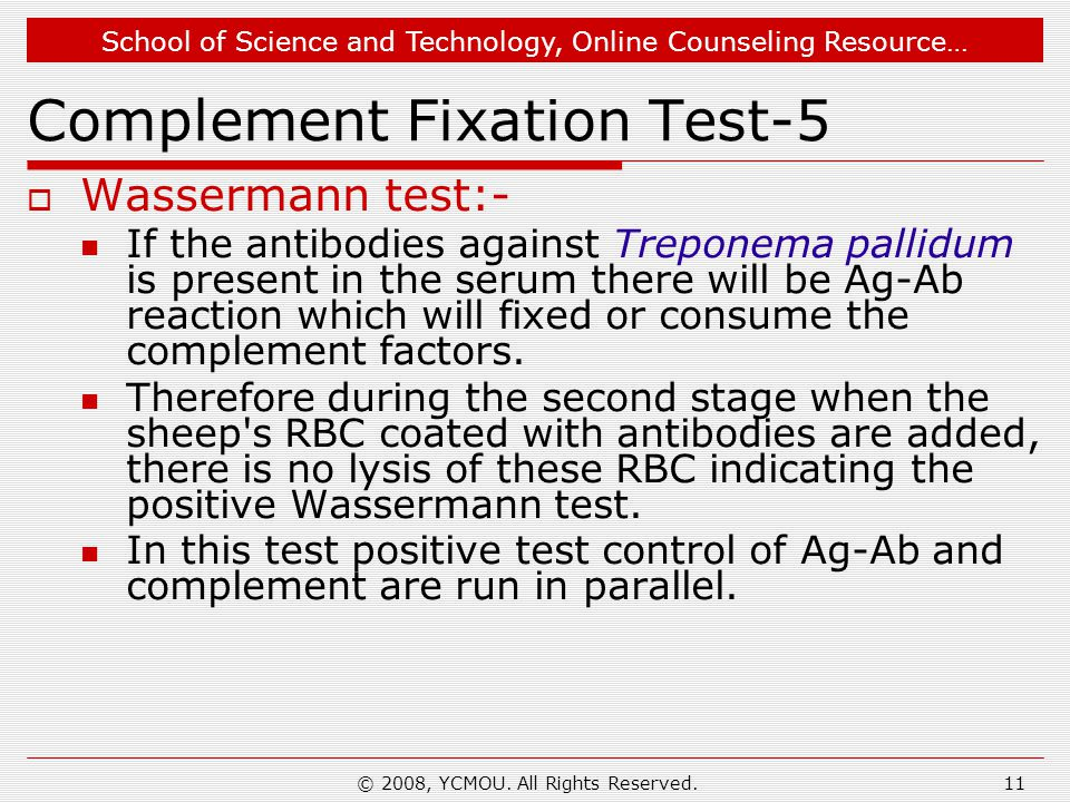 Complement Fixation Test-5