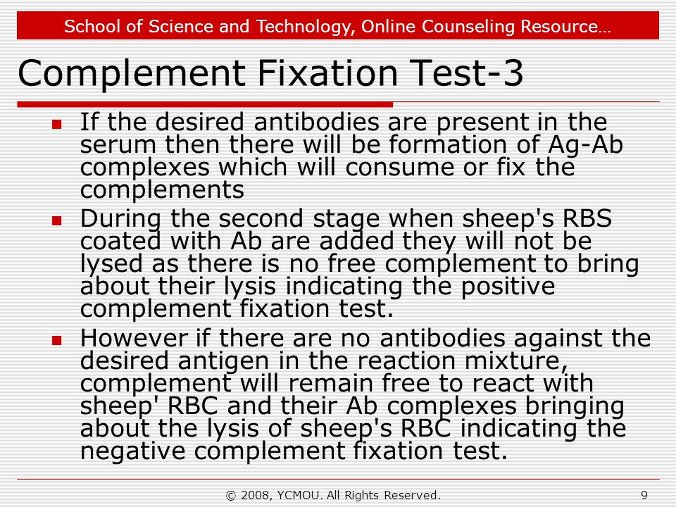 Complement Fixation Test-3