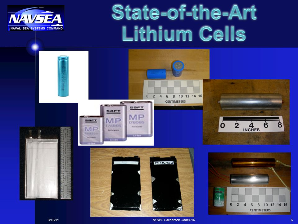 State-of-the-Art Lithium Cells