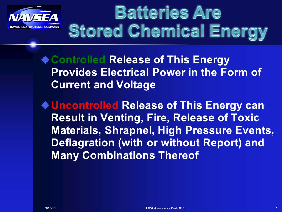 Batteries Are Stored Chemical Energy