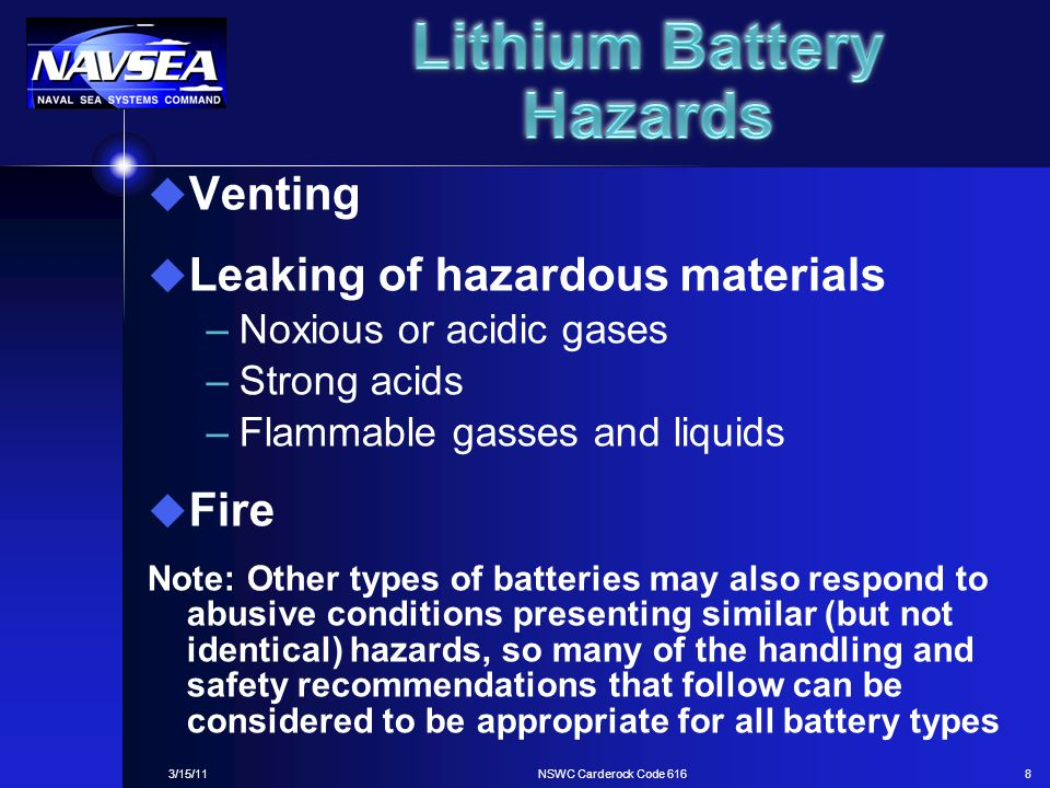 Lithium Battery Hazards