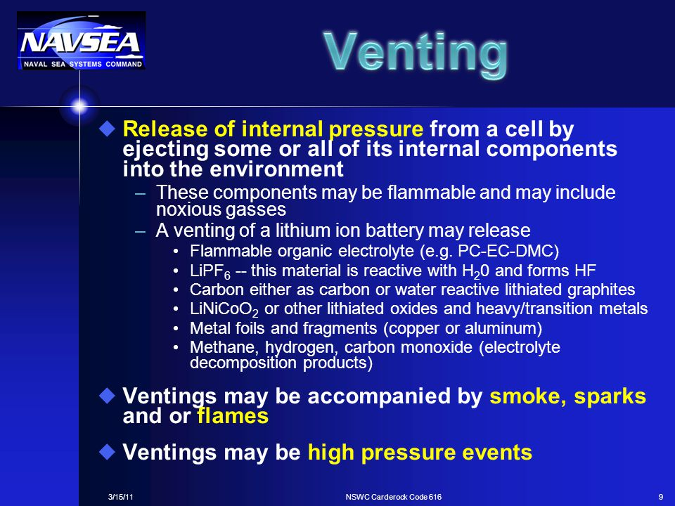 Venting Release of internal pressure from a cell by ejecting some or all of its internal components into the environment.